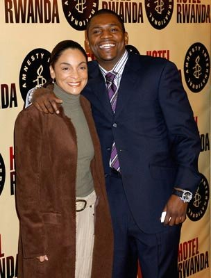 Jasmine Guy and Mekhi Phifer at the Beverly Hills premiere of United Artists' Hotel Rwanda