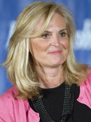 FILE -- In this April 23, 2012 file photo, Ann Romney, wife of Republican presidential candidate, former Massachusetts Gov. Mitt Romney, speaks at the Connecticut GOP Prescott Bush Awards dinner in Stamford, Conn., on the eve of Connecticut's primary. (AP Photo/Jessica Hill)