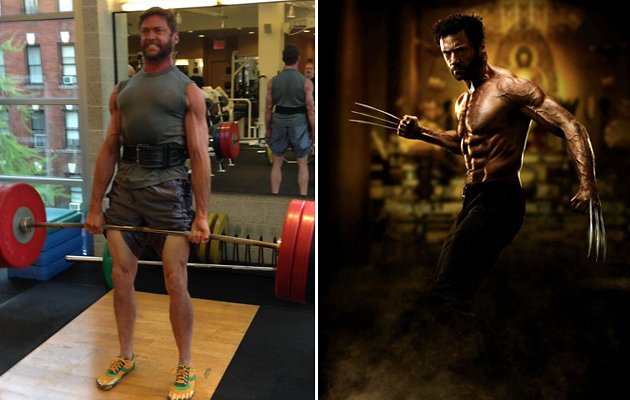 Hugh Jackman weightlifting