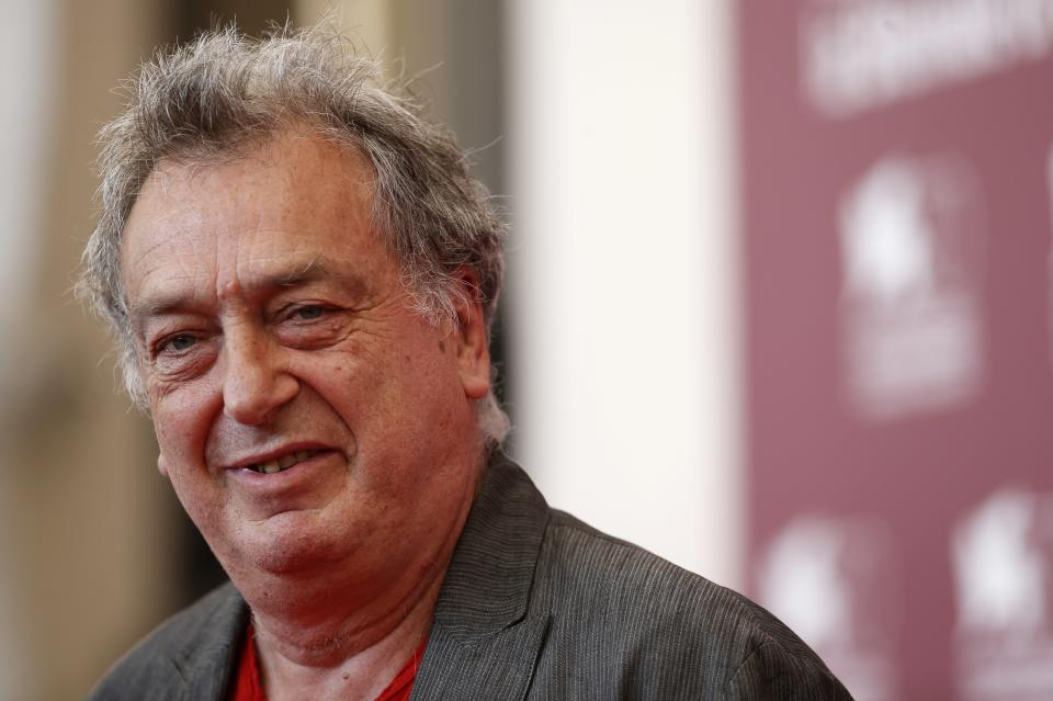 Director Stephen Frears poses for photographers during a photo call to promote the film Philomena at the 70th edition of the Venice Film Festival held from Aug. 28 through Sept. 7, in Venice, Italy, Saturday, Aug. 31, 2013. (AP Photo/David Azia)