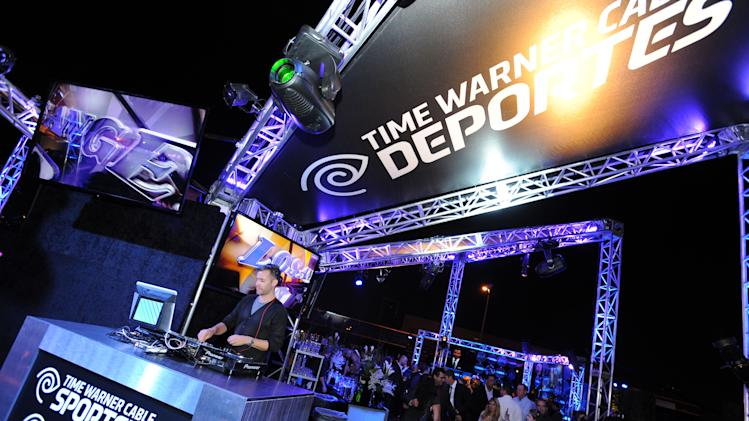A general view of atmosphere is seen inside the Time Warner Cable Sports launch event hosted by Time Warner Cable Sports on Monday, Oct. 1, 2012, in Los Angeles. (Photo by Jordan Strauss/Invision for Time Warner Cable/AP Images)