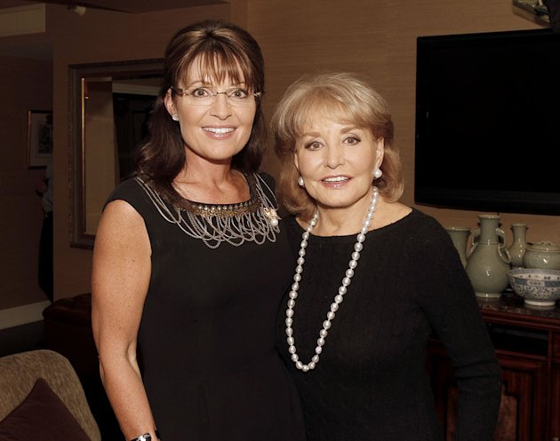 Barbara Walters interviews former Alaska governor and Vice Presidential candidate Sarah Palin, for &quot;Barbara Walters Presents: The 10 Most Fascinating People of 2010.&quot; 