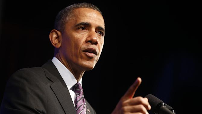 President Barack Obama speaks at the 2013 Planned Parenthood National Conference in Washington, Friday, April 26, 2013. (AP Photo/Charles Dharapak)
