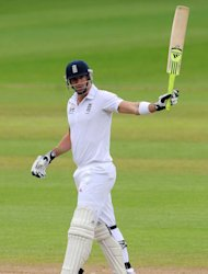 Graeme Swann hailed the performance of Kevin Pietersen, pictured