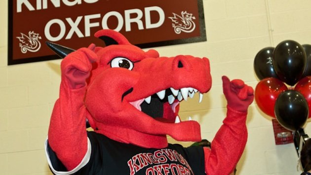 The Wyvern, in more comic mascot form — David B. Newman Photography, Kingswood Oxford School
