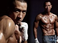 Nick Cheung shows off killer bod