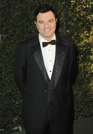 FILE - This Dec. 1, 2012 file photo shows Seth MacFarlane at the 4th Annual Governors Awards in Los Angeles. Academy officials say Oscar host Seth MacFarlane will join actress Emma Stone to reveal the nominees for the 85th annual Academy Awards. This is the first time since 1972 that an Oscar host has participated in the nominations announcement. Charlton Heston was the only other show host to announce Oscar nominees. MacFarlane and Stone will reveal the contenders for the 85th annual Oscar show on Thursday from the Academy of Motion Picture Arts and Sciences' headquarters in Beverly Hills, Calif. The Academy Awards will be presented Feb. 24 at the Dolby Theatre in Los Angeles. (Photo by Jordan Strauss/Invision/AP, file)