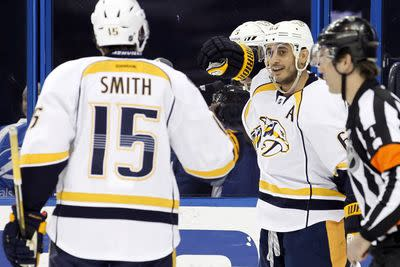 NHL scores 2015: Preds lead trio of playoff-clinching teams