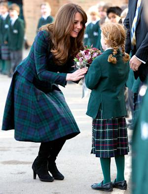 PICTURES: Kate Middleton Shows Off Haircut, Plays Field Hockey in Heels, Plaid