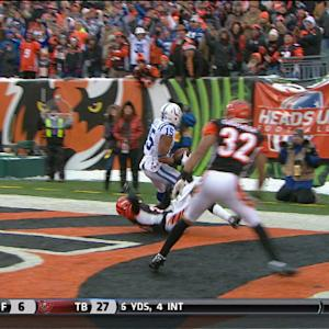 Indianapolis Colts wide receiver LaVon Brazill 29-yard touchdown
