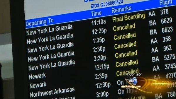 240 flights cancelled at O'Hare and Midway in advance of Northeast blizzard