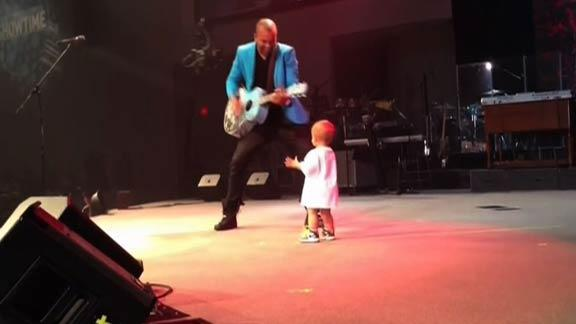 Dancing Baby Takes Over Concert