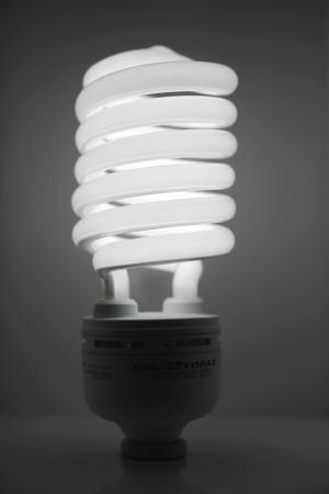 FILE - In this May 18, 2011 file photo, a compact fluorescent light bulb is seen in Philadelphia. Having to buy a squiggly fluorescent light bulb is an affront to personal freedom, some lawmakers are saying as the House decides whether to overturn a law setting new energy-efficiency standards for the bulbs. (AP Photo/Matt Rourke, File)
