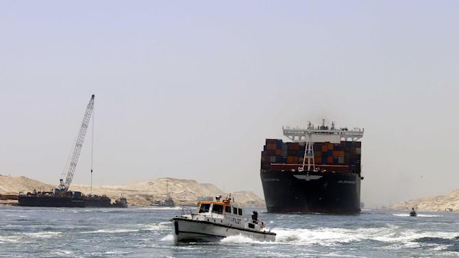 The new 72-kilometre (45-mile) waterway, built in less than a year at a cost of $9 billion (7.9 billion euros), runs part of the way alongside the existing canal connecting the Red Sea and the Mediterranean