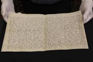 Handout picture of hand written letter detailing the Glenrowan Siege