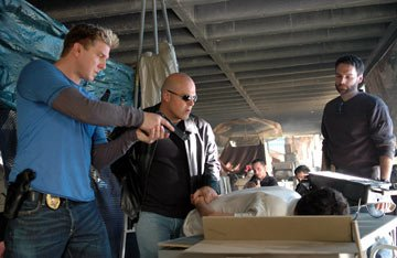 Kenneth Johnson, Michael Chiklis and David Rees Snell FX's The Shield