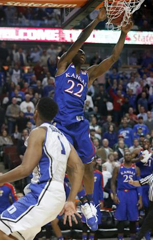 Wiggins' surge helps No. 5 Kansas edge No. 4 Duke