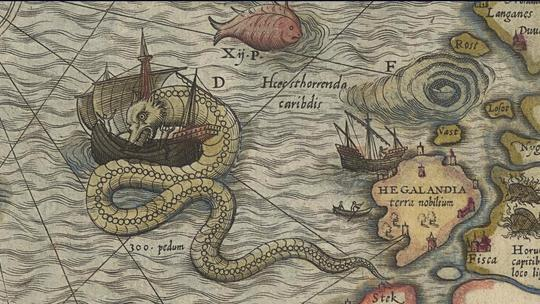 Here Be Dragons: The Evolution of Sea Monsters on Medieval Maps