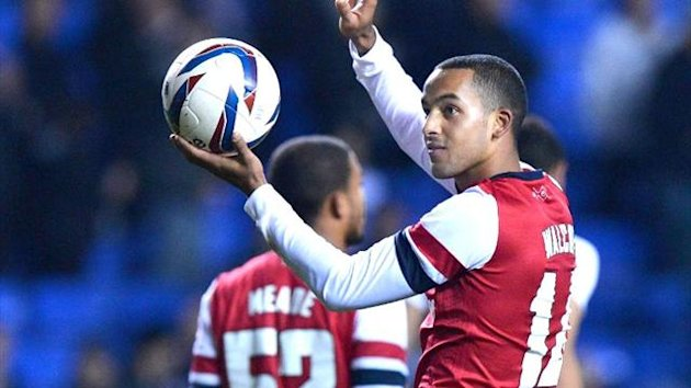 Theo Walcott, Reading v Arsenal Carling Cup
