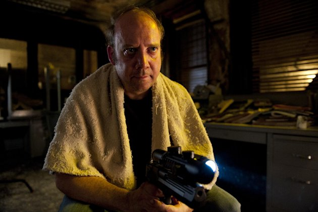 "This film image released by Entertainment One shows Paul Giamatti in a scene from ""Cosmopolis."" (AP Photo/Entertainment One)"