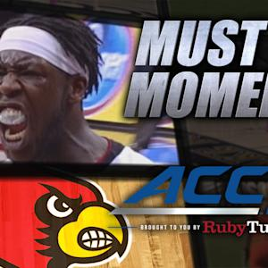 Louisville's Montrezl Harrell Huge Rejection vs UK | ACC Must See Moment