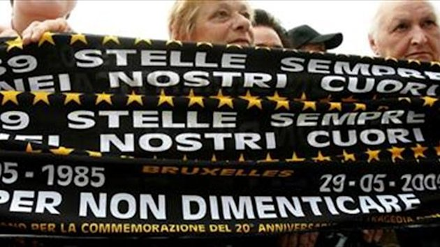 Juventus remembers Heysel victims