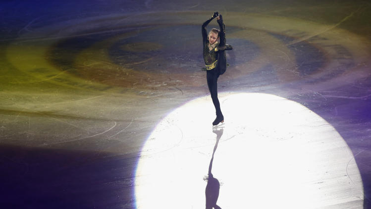 Lipnitskaia of Russia performs during gala exhibition at ISU Grand Prix of Figure Skating Final in Fukuoka