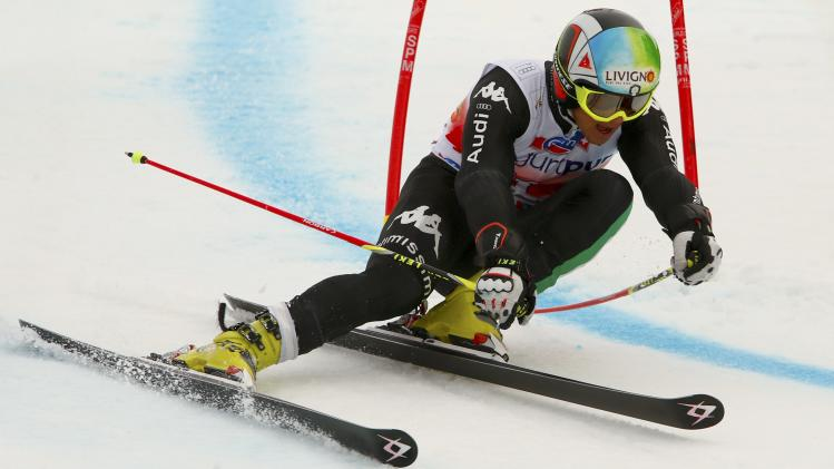 Nani of Italy competes during the second run of the men's giant slalom at the FIS Alpine Skiing World Cup Finals in Lenzerheide