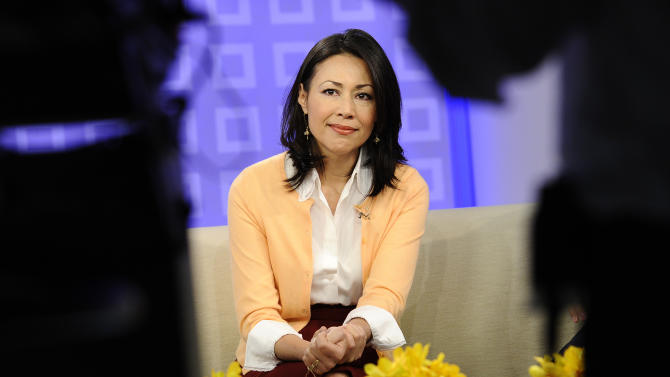 """FILE - This July 27, 2011 file photo released by NBC shows co-host Ann Curry on the """"Today"""" show in New York.  Curry's last day as co-host of NBC's """"Today"""" show was on Thursday, June 28, 2012. NBC's """"Today"""" actually won Monday, Tuesday, Wednesday and Thursday in the ratings over """"Good Morning America"""" last week. But on Friday, the day after Ann Curry made her tearful farewell from """"Today,"""" the NBC show was crushed by a 670,000-viewer margin. (AP Photo/NBC, Peter Kramer)"""