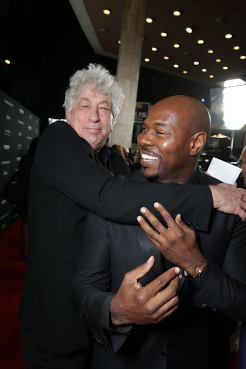 Executive Producer/Millennium Films' Avi Lerner and Director Antoine Fuqua at FilmDistrict's Premiere of 'Olympus Has Fallen' hosted by Brioni and Grey Goose at the ArcLight Hollywood, on Monday, Marc