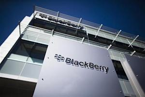 The company logo is seen at the Blackberry campus in Waterloo