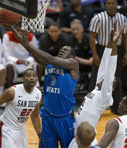 No. 18 San Diego State beats Indiana State 62-55