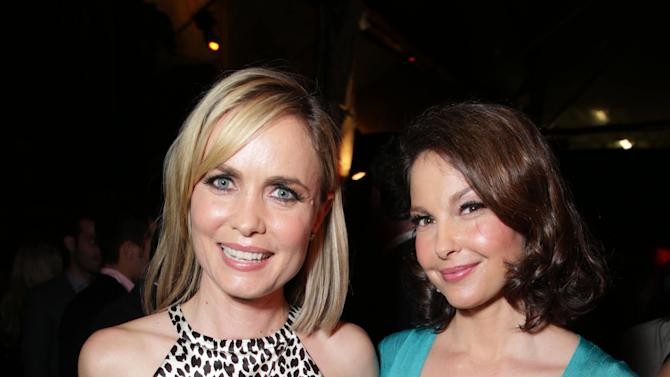 Ashley Judd and Radha Mitchell  at FilmDistrict's Premiere of 'Olympus Has Fallen' hosted by Brioni and Grey Goose at the ArcLight Hollywood, on Monday, March, 18, 2013 in Los Angeles. (Photo by Eric Charbonneau/Invision for FilmDistrict/AP Images)