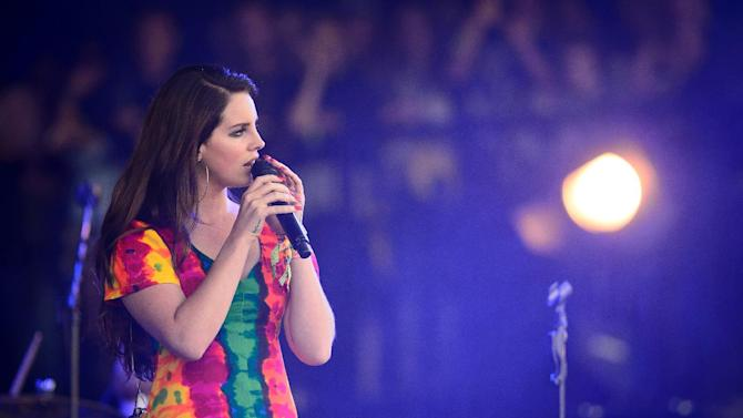 US singer Lana Del Rey performs on the second day of the Glastonbury Festival of Music and Performing Arts in Somerset on June 28, 2014