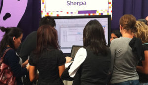 Geeks around the Sherpa demo station