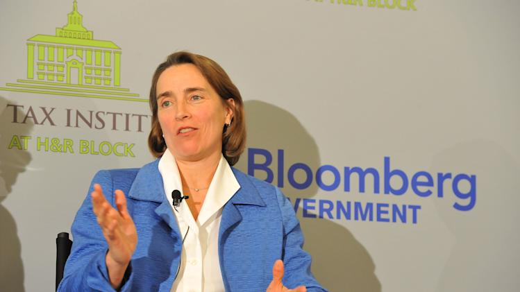 Former Sen. Blanche Lincoln (D-Ark.) speaks at an event on the tax implications of health care reform, on Friday, February 15, 2013 in Washington, DC. The event kicked of a multi-city engagement tour hosted by The Tax Institute at H&R Block examining the effects of the Affordable Care Act on consumers, small businesses and the uninsured. (Photo by Larry French/AP Images for The Tax Institute at H&R Block)