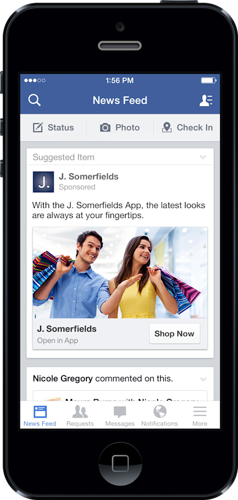 4 facebook ads mobile