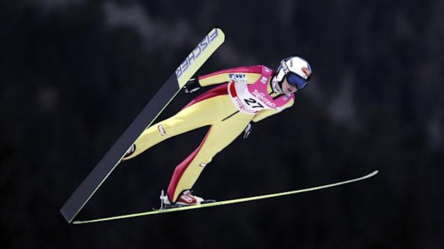 Jacqueline Seifriedsberger earned her first World Cup win in the women's ski jumping in Sapporo.