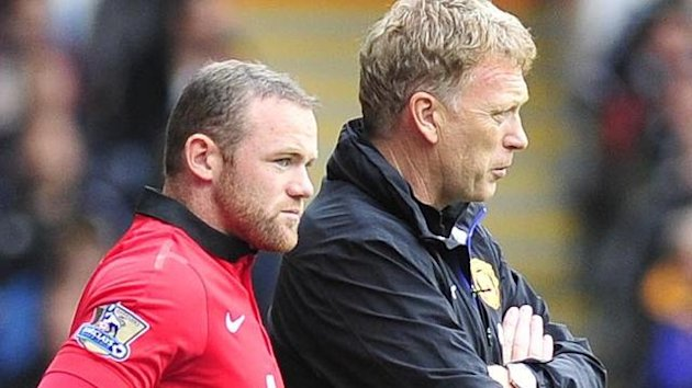 Manchester United manager David Moyes and Wayne Rooney