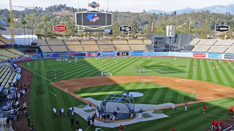 MLB: Spring Training-Los Angeles Angels at Los Angeles Dodgers