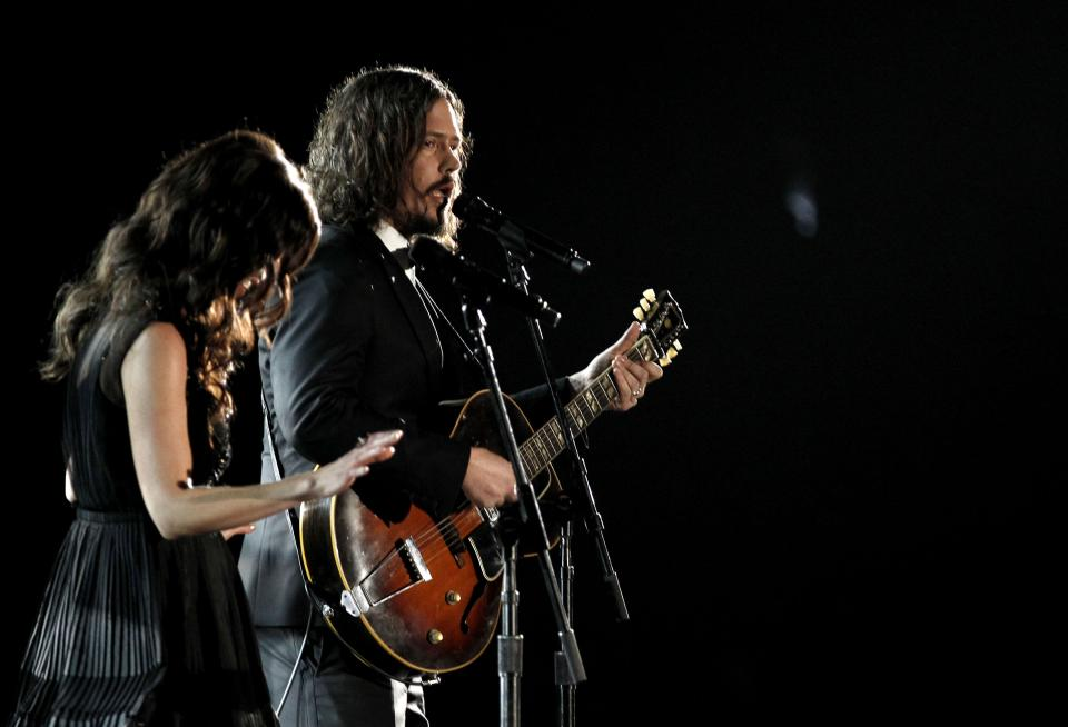 Joy Williams, left, and John Paul White, of musical group The Civil Wars, perform during the 54th annual Grammy Awards on Sunday, Feb. 12, 2012 in Los Angeles. (AP Photo/Matt Sayles)