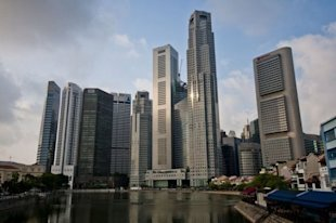 Singapore property prices have been holding up well despite weakness in the global economy. (AFP photo)