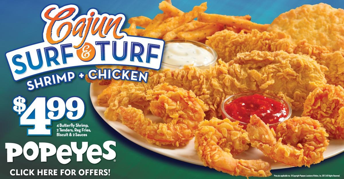 Popeyes Shrimp and Chicken