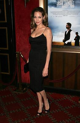 Angelina Jolie at the New York City premiere of Warner Brothers' The Assassination of Jesse James by the Coward Robert Ford