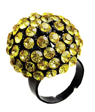 Yellow and black Fashion Crimes Ring, Jan 13, p34