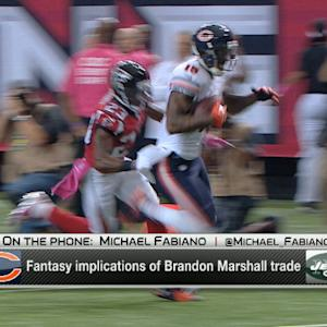 What are the fantasy implications of the New York Jets decision to trade for wide receiver Brandon Marshall?