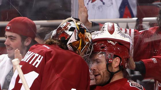 Ray Whitney #13 Of The Phoenix Coyotes Celebrates Getty Images