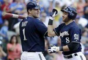Braun hits 34th HR to lead Brewers over Cubs 3-2