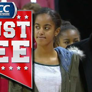 President Barack Obama Arrives At Maryland Basketball Game | ACC Must See Moment