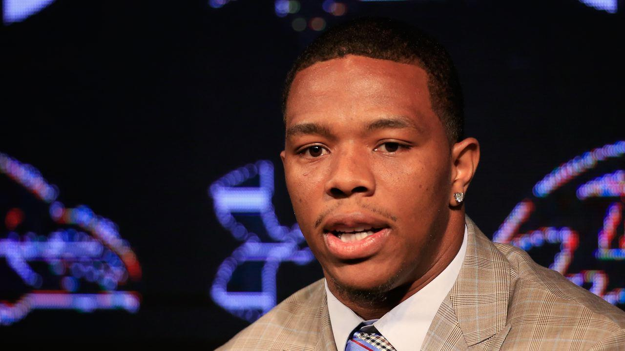 Ray Rice spoke to Rutgers before the team's spring game